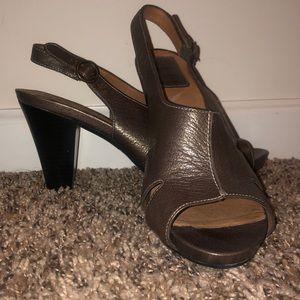 Clarks Metallic Heels